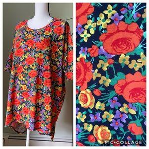 LuLaRoe Irma Floral top tunic size XL